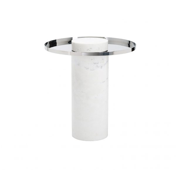 Mesa Auxiliar Marble Cylinder