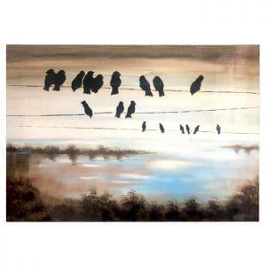 Cuadro Birds in Cable