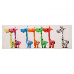 Cuadro 150 x 50 Baby Giraffes